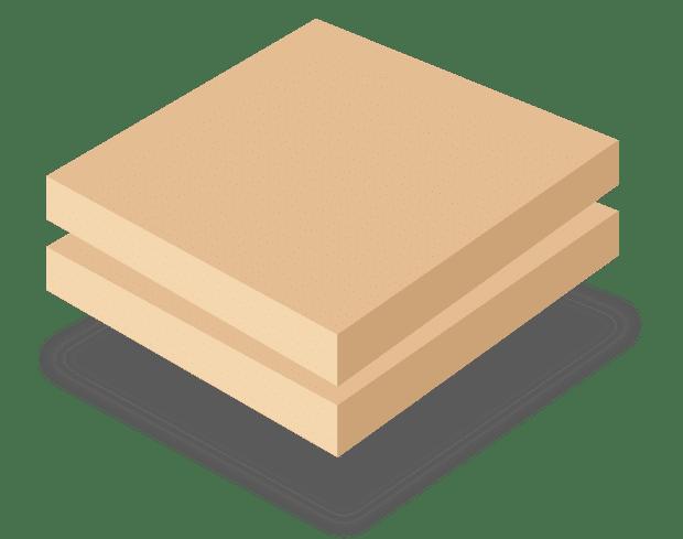 Древесноволокнистая плита средней плотности (двухсторонняя MDF)