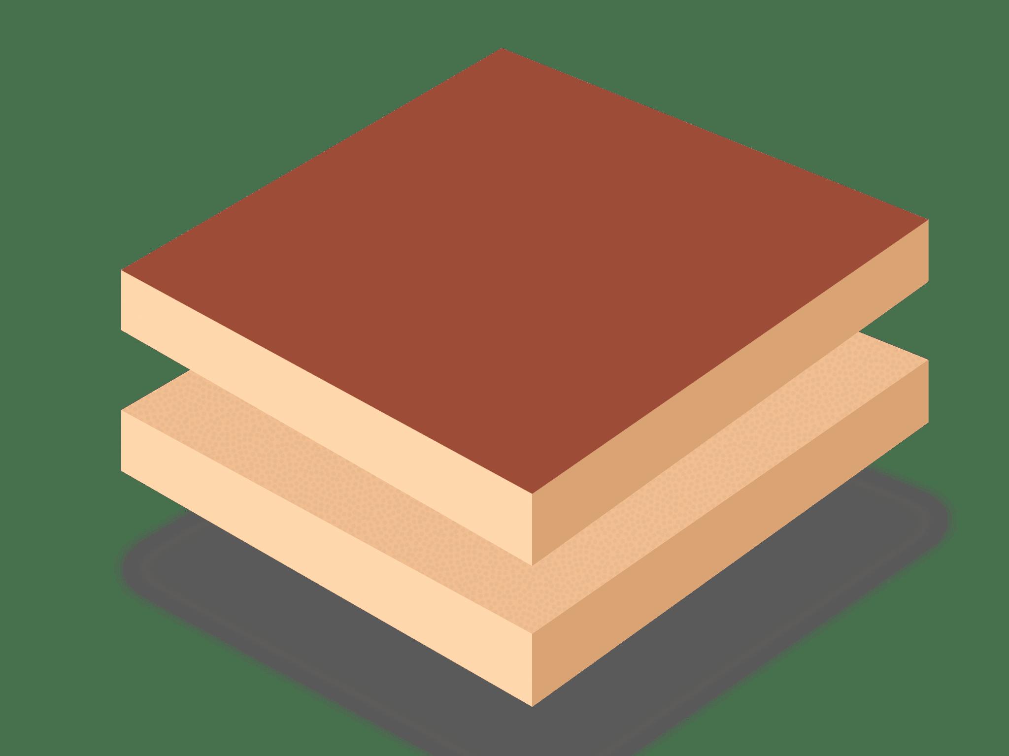 Ламинированная древесноволокнистая плита средней плотности (односторонняя LMDF)