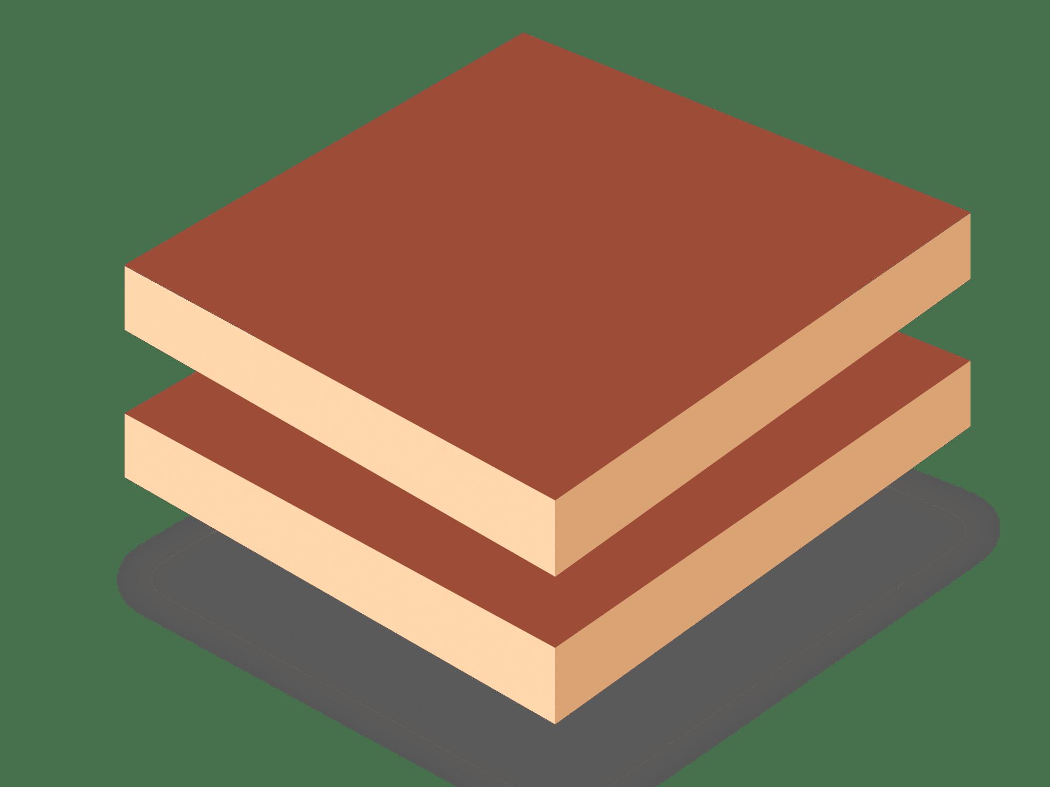 Ламинированная древесноволокнистая плита средней плотности (двухсторонняя LMDF)
