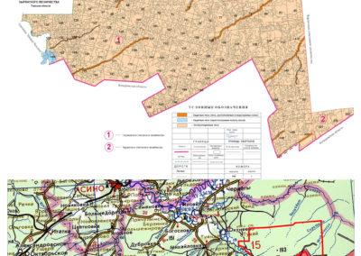 Карта-Схема арендуемых лесных участков ООО «Монолит-Строй»